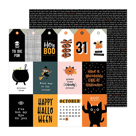 736977 Patterned Paper - PB - Spoooky - 12 x 12 - October 31