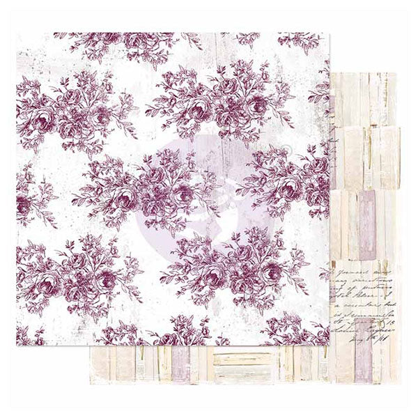 PR-849245 Pretty Mosaic Collection 12x12 Sheet - Floral Toile