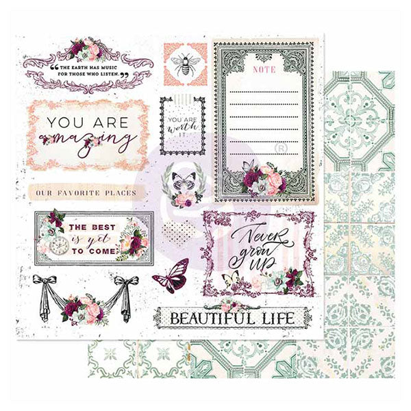 PR-849337 Pretty Mosaic Collection 12x12 Sheet - Beautiful Life