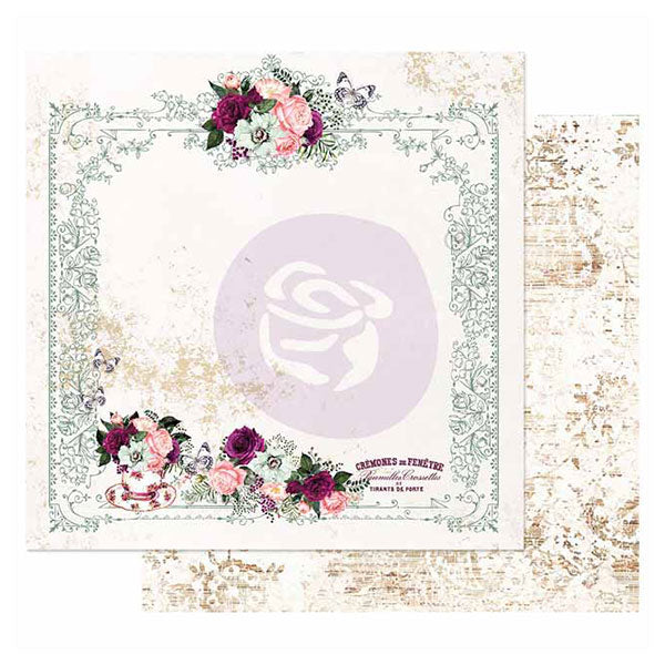 PR-849344 Pretty Mosaic Collection 12x12 Sheet - Tea and Roses