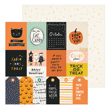 350870 Patterned Paper - CP - Hey, Pumpkin - 12 x 12 - Treats Please