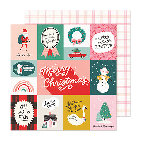 373189 Patterned Paper - CP - Hey, Santa - 12 x 12 - Charmed
