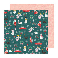 373190 Patterned Paper - CP - Hey, Santa - 12 x 12 - Wild Rose