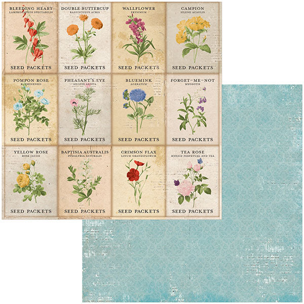 7311097 Patterned Paper - BB - Botanical Journal - 12 x 12 - Garden