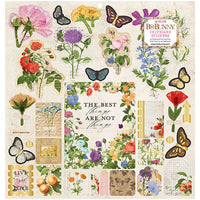 7311104 Sticker - BB - Botanical Journal - 12 x 12 Chipboard Stickers - Gold Foil (36 Piece)