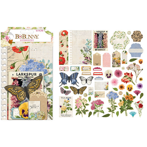 7311106 Embellishment - BB - Botanical Journal - Noteworthy (54 Piece)