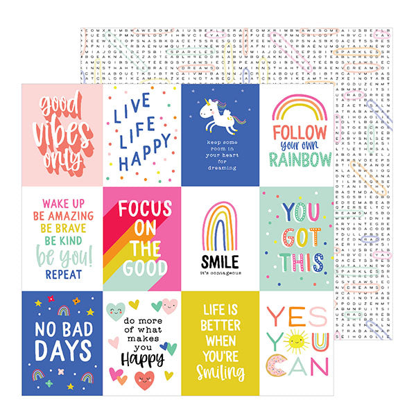 736904 Patterned Paper - PB - Live Life Happy - 12 x 12 - Live Life Happy