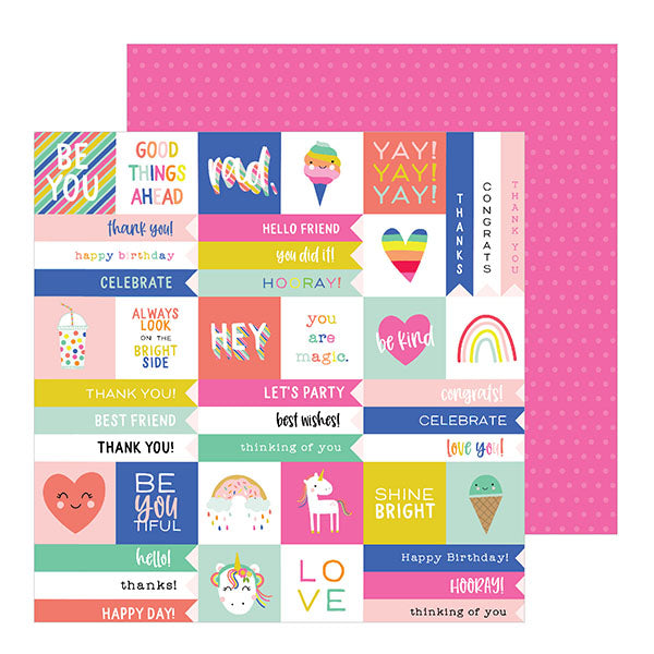 736908 Patterned Paper - PB - Live Life Happy - 12 x 12 - Have a Good One