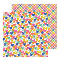 736910 Patterned Paper - PB - Live Life Happy - 12 x 12 - Smiling Hearts