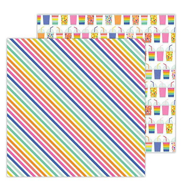736911 Patterned Paper - PB - Live Life Happy - 12 x 12 - Rad Stripes