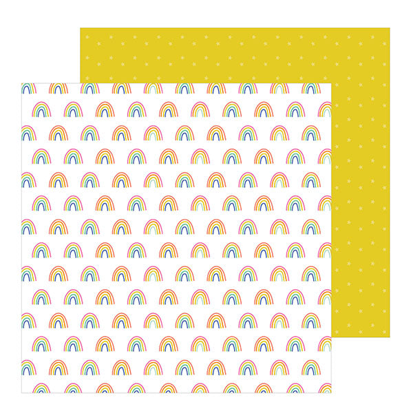 736913 Patterned Paper - PB - Live Life Happy - 12 x 12 - Happy Rainbows
