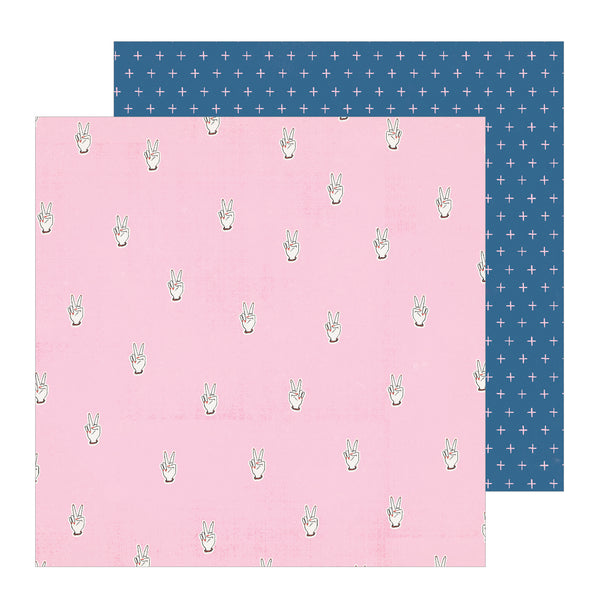 Patterned Paper - CP - All Heart - 12 x 12 - Peace Out 350842