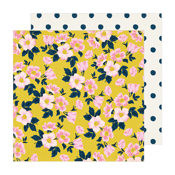 CP-350786 Patterned Paper - CP - MH - Sunny Days - 12 x 12 - Apple Blossom ペーパー