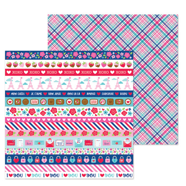 DB-6295 passion for plaid double-sided cardstock ペーパー