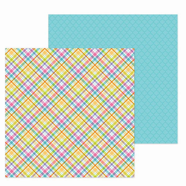 DB-6320 jellybean plaid double-sided cardstock