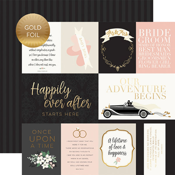 EP-WD181005 Journaling Cards -Gold Foiled ペーパー