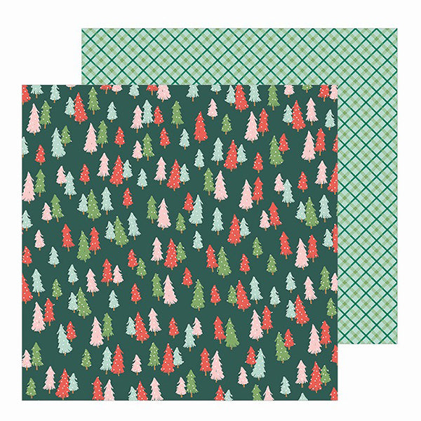PBI-734142 Patterned Paper - PB - Merry Little Christmas - 12 x 12 - Oh Christmas Tree ペーパー