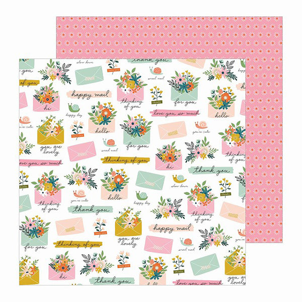 PBI-734163 Patterened Paper - PB - JH - This Is Family - 12 x 12 - Snail Mail ペーパー