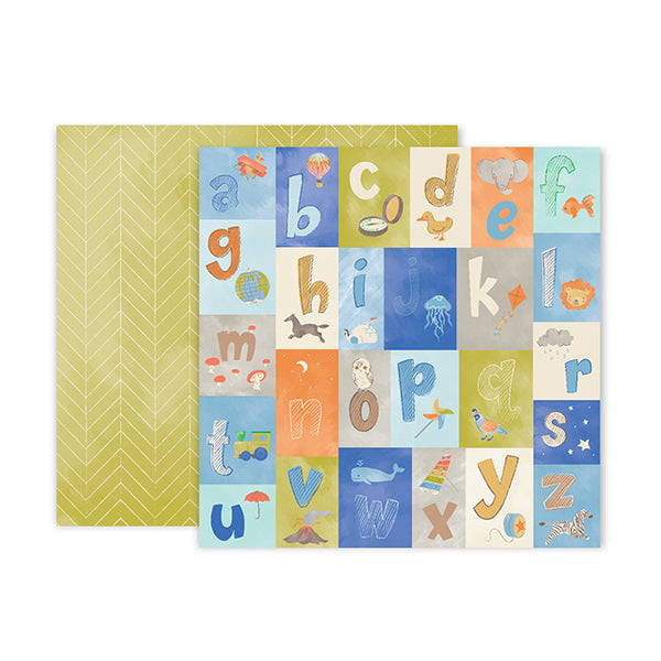 PP-310740 Patterned Paper - PP - Little Adventurer - 12 x 12 - Paper 11 ペーパー