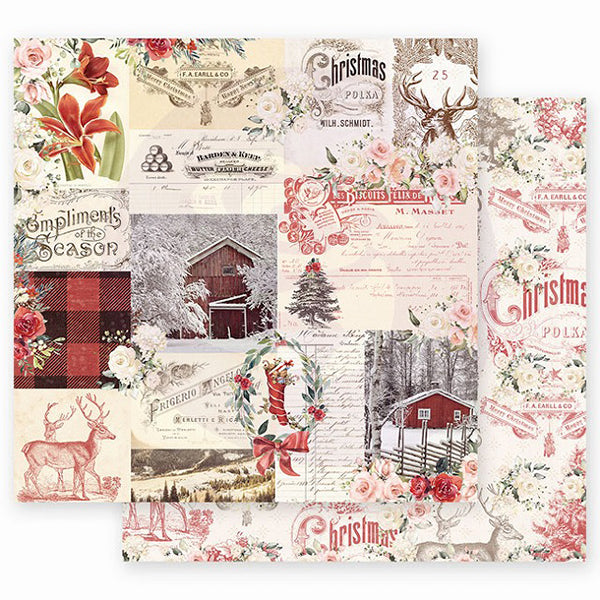 PR-995263 Christmas in the Country - 12x12 Sheet - Compliments of the Season ペーパー