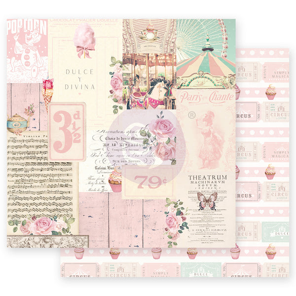 "PR-995614 Dulce Collection 12""x12"" Sheet-  Divina ペーパー"