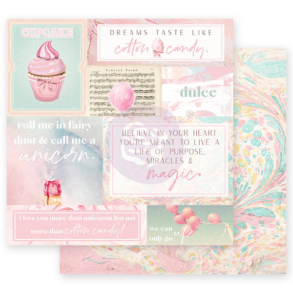 "PR-995621 Dulce Collection 12""x12"" Sheet-  Fairy Dust ペーパー"