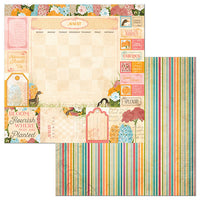 Patterned Paper - BB - Time & Place - 12 x 12 - August 7310960