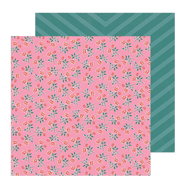 Patterned Paper - CP - All Heart - 12 x 12 - Rose 350852