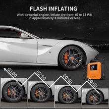 Load image into Gallery viewer, JETHAX Air Compressor Tire Inflator, 12V Portable Air Pump for Car Tires, Tire Pump with LED Light, Long Cable and Auto Shut Off Compatible with Car, Bicycle, Motorcycle, Balls, Inflatable Pool