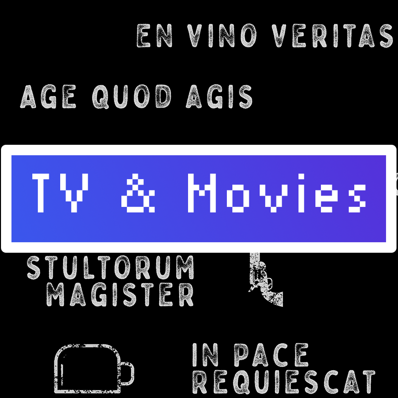 tv and movies Category Title Card