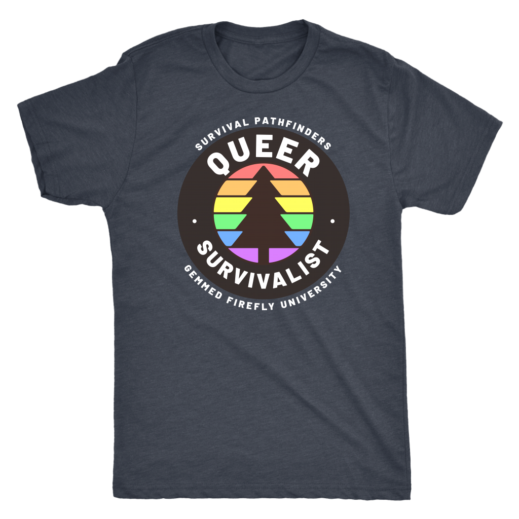 Queer Survival Survivalist Shirt GFU Survival Pathfinders T-shirt  - Gemmed Firefly