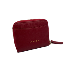 Load image into Gallery viewer, Larson Zip Around Leather Wallet - Redstone