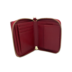 Larson Zip Around Leather Wallet - Redstone