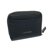 Load image into Gallery viewer, Larson Zip Around Leather Wallet - Black