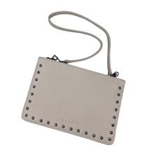 Load image into Gallery viewer, Larson Studded Leather Wallet on a Chain - Mystic White