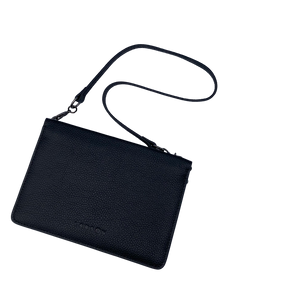 Larson Leather Wallet on a Chain - Black