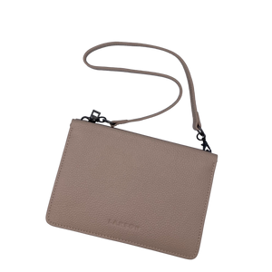 Larson Leather Wallet on a Chain - Classic Taupe