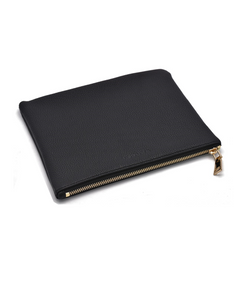 The Larson Collection Leather Zipper Pouch is versatile and extremely soft, made with top cow hide leather.  The zipper pouch is perfect for tote organization or on its own.  Best for a make-up bag, jewelry and accessories, or chargers and other devices.