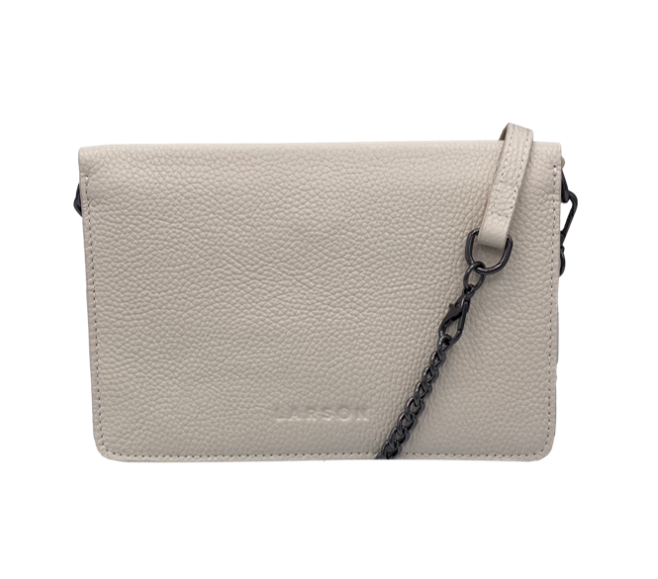 Larson Leather Wallet on a Chain - Mystic White