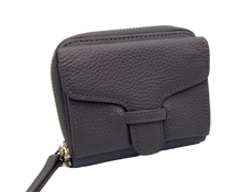 Load image into Gallery viewer, Larson Zip Around Leather Wallet - Motty Grey