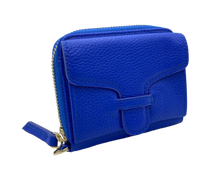 Load image into Gallery viewer, Larson Zip Around Leather Wallet - Royal Navy