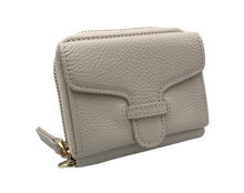 Load image into Gallery viewer, Larson Zip Around Leather Wallet - Mystic White