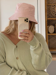 Pastel Pink Beach Bucket Hat
