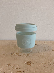 SoL Reusable Glass Cup Cool Cyan (12oz)