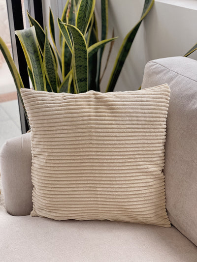 Sand Corduroy Cushion Cover