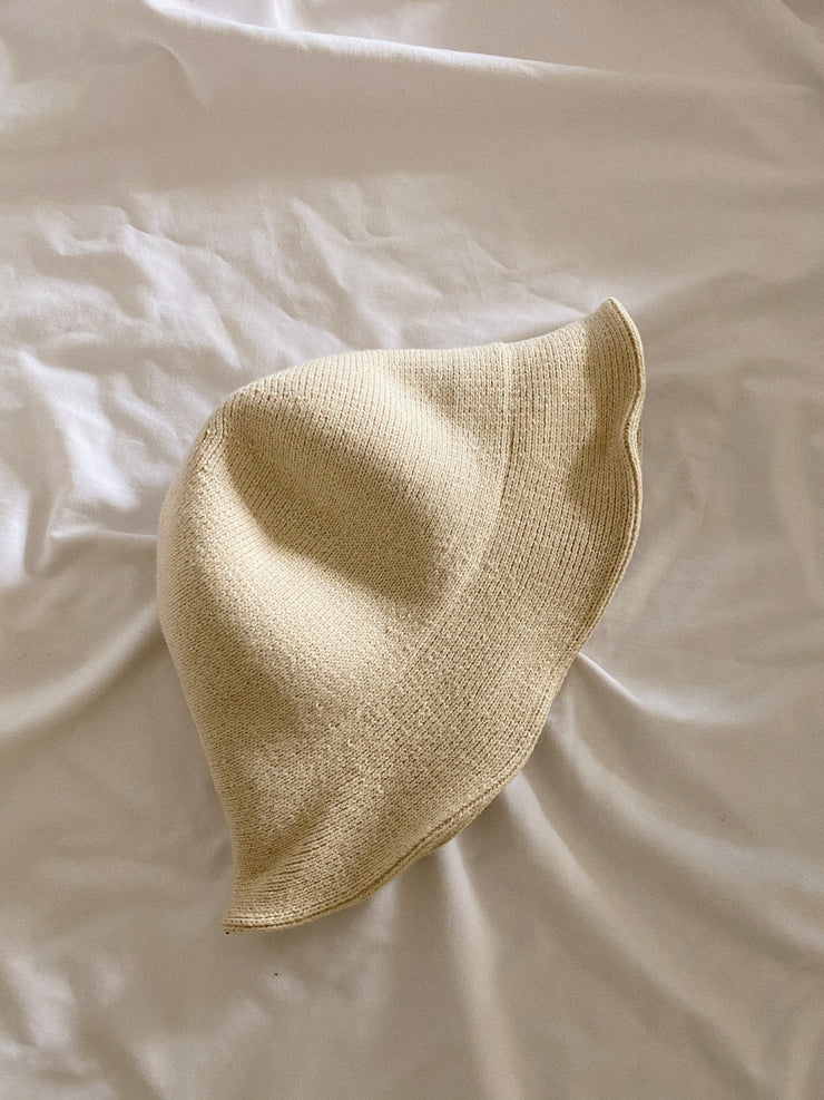Buttermilk Knit Bucket Hat