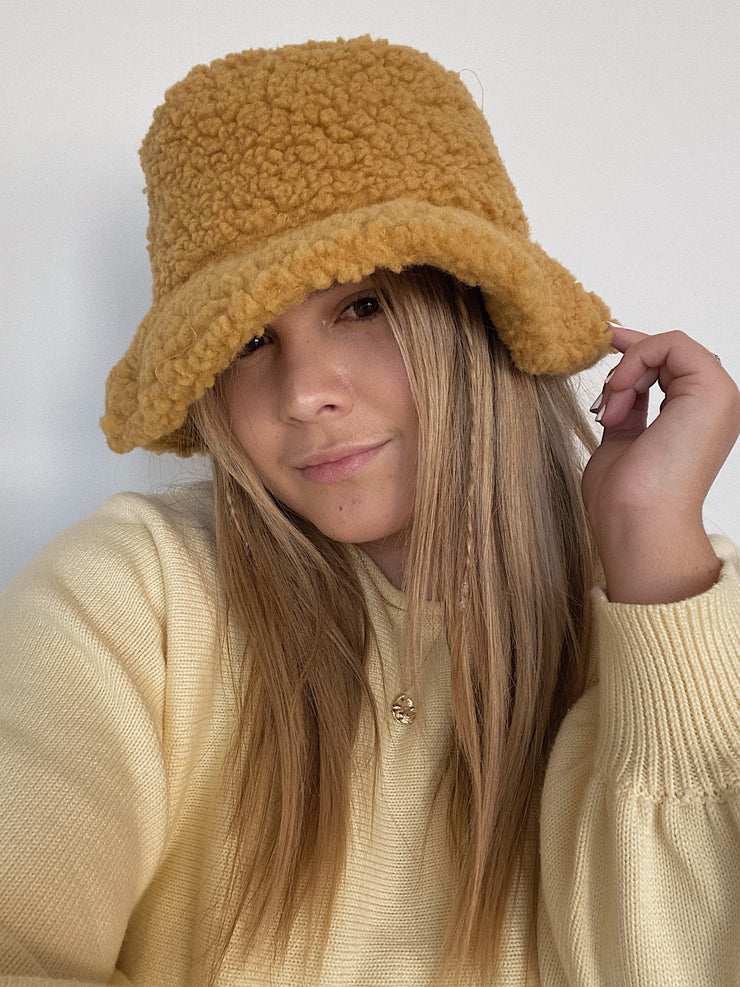 Honey Wool Bucket Hat