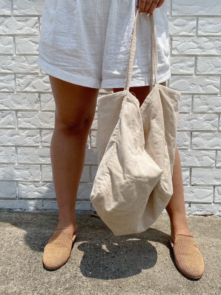 Almond Corduroy Bag