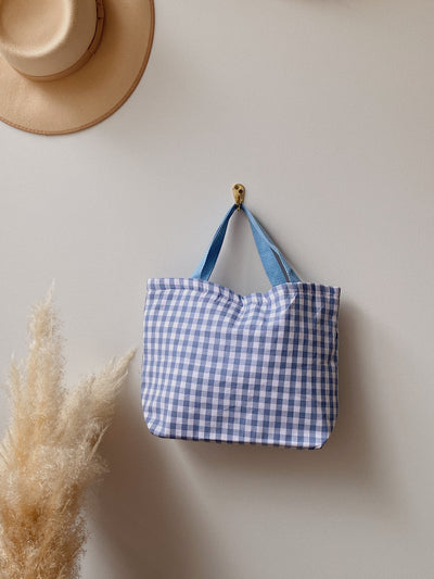 Blue Gingham Lunch Bag