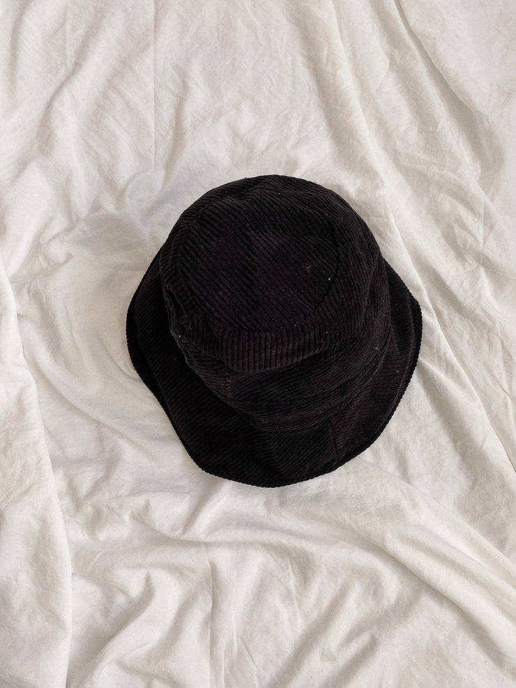 Charcoal Corduroy Bucket Hat